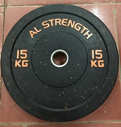 Бамперные блины для штанги AL STRENGTH 15 кг, фото 2