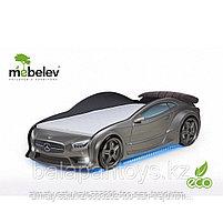 3D кровать-машина Мерседес  для детей до 12 лет EVO графит, фото 2