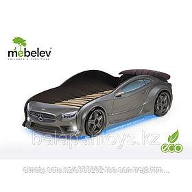 3D кровать-машина Мерседес  для детей до 12 лет EVO графит