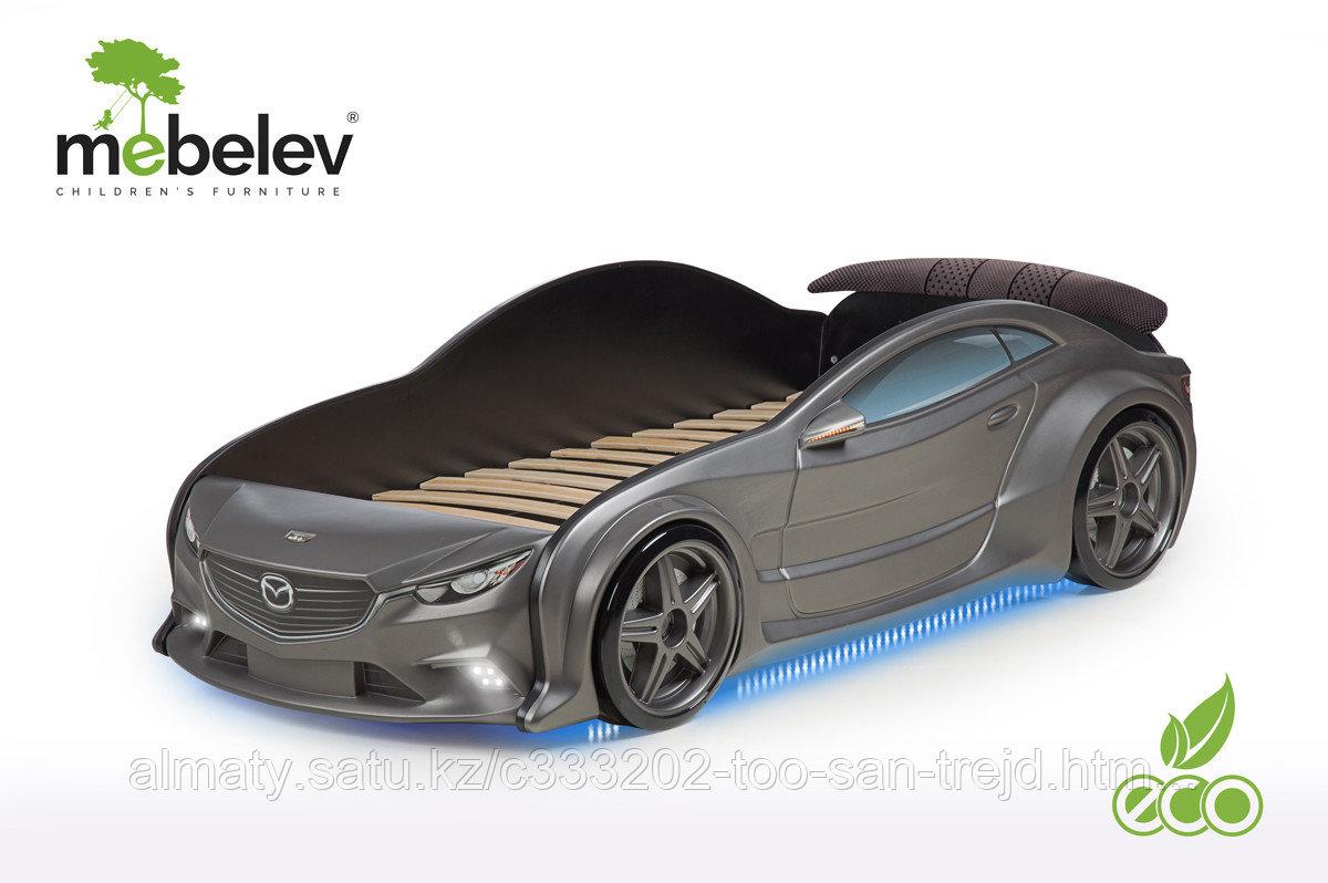 3D кровать-машина Мазда для детей до 12 лет EVO графит
