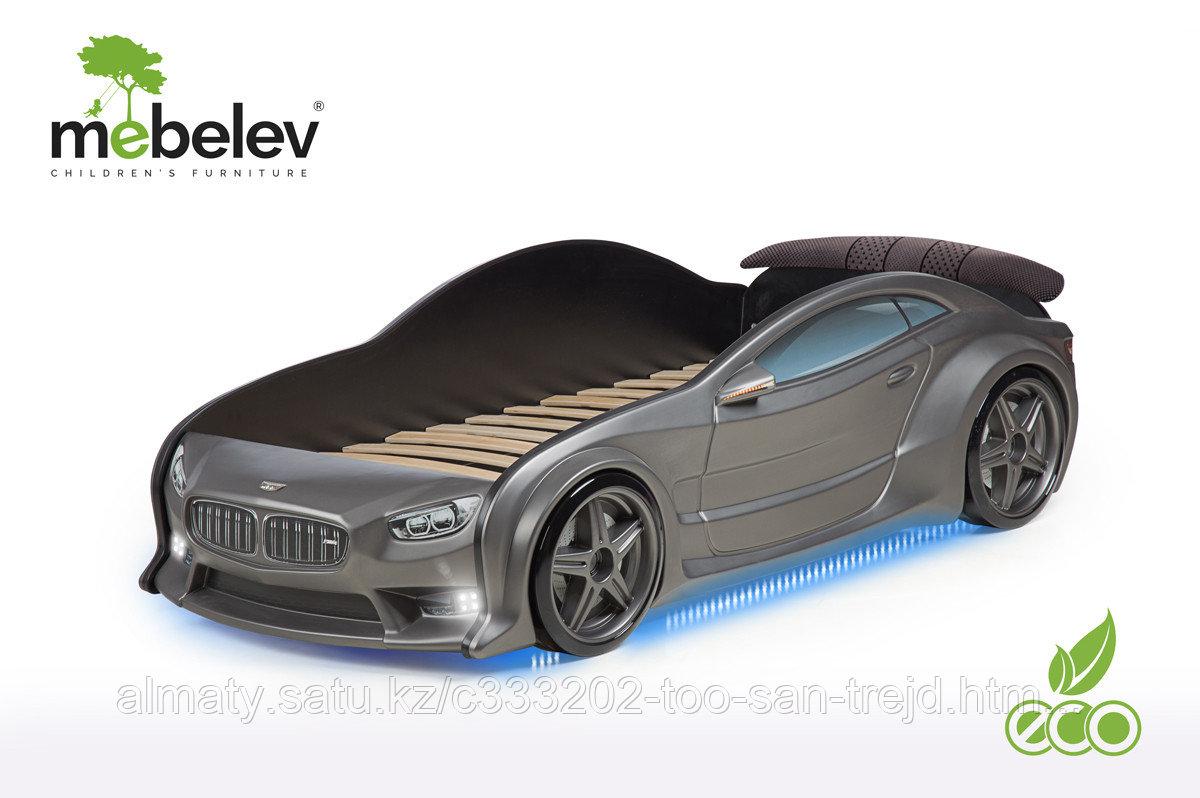 3D кровать-машина БМВ для детей до 12 лет EVO графит