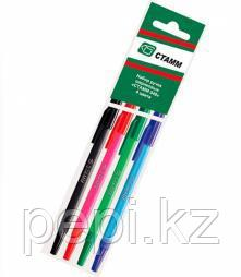 Ручки шариковые 4шт Стамм