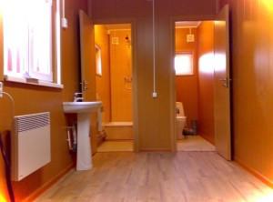Модульный туалет и душ из контейнера