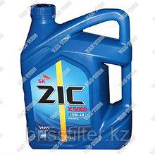 Минеральное моторное масло ZIC X5 15w40 п\с 4л