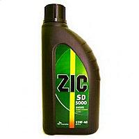 Минеральное моторное масло ZIC 5000 diz 15W40 1л