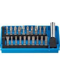 Набор бит для шуруповерта ЗУБР 26091-H21, биты из хромомолибденовой стали, 20 бит - 25 мм, адаптер, 21 предмет