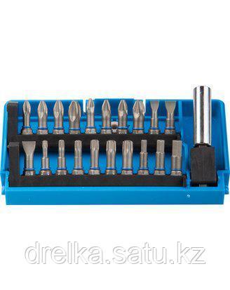 Набор бит для шуруповерта ЗУБР 26091-H21, биты из хромомолибденовой стали, 20 бит - 25 мм, адаптер, 21 предмет, фото 2