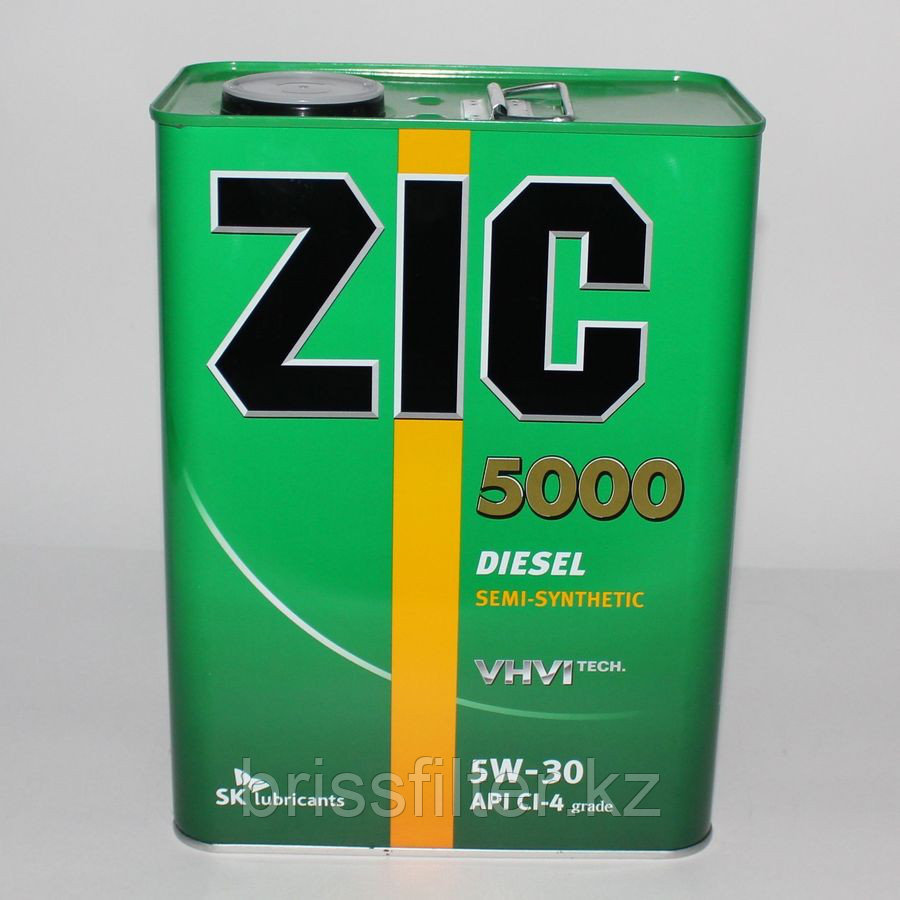 Полусинтетическое моторное масло ZIC 5000 diz 5w30 4л CL-4