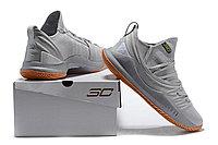 """Баскетбольные кроссовки Under Armour Curry V """"Grey/Gum"""" Low (40-46), фото 6"""