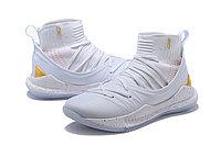 "Баскетбольные кроссовки Under Armour Curry V ""White/Gold"" Mid (40-46), фото 2"