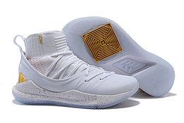 "Баскетбольные кроссовки Under Armour Curry V ""White/Gold"" Mid (40-46)"
