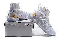 "Баскетбольные кроссовки Under Armour Curry V ""White/Gold"" Mid (40-46), фото 6"