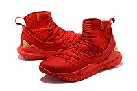 """Баскетбольные кроссовки Under Armour Curry V """"Red/Gold"""" Mid (40-46), фото 2"""