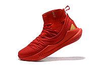 """Баскетбольные кроссовки Under Armour Curry V """"Red/Gold"""" Mid (40-46), фото 4"""