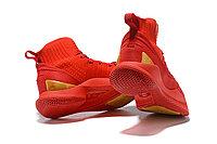 """Баскетбольные кроссовки Under Armour Curry V """"Red/Gold"""" Mid (40-46), фото 5"""