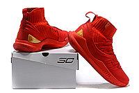 """Баскетбольные кроссовки Under Armour Curry V """"Red/Gold"""" Mid (40-46), фото 6"""