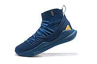 """Баскетбольные кроссовки Under Armour Curry V """"Navy/Gold"""" Mid (40-46), фото 4"""