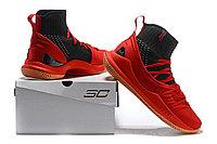 """Баскетбольные кроссовки Under Armour Curry V """"Black/Red/Gum"""" Mid (40-46), фото 6"""