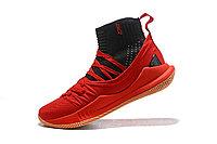 """Баскетбольные кроссовки Under Armour Curry V """"Black/Red/Gum"""" Mid (40-46), фото 4"""
