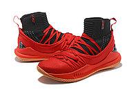 """Баскетбольные кроссовки Under Armour Curry V """"Black/Red/Gum"""" Mid (40-46), фото 2"""