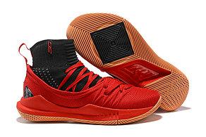 "Баскетбольные кроссовки Under Armour Curry V ""Black/Red/Gum"" Mid (40-46)"