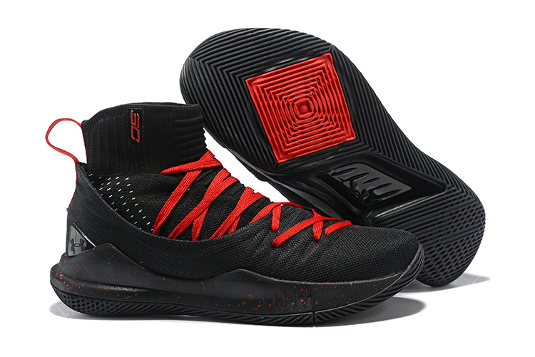 "Баскетбольные кроссовки Under Armour Curry V ""Black/Red"" Mid (40-46)"