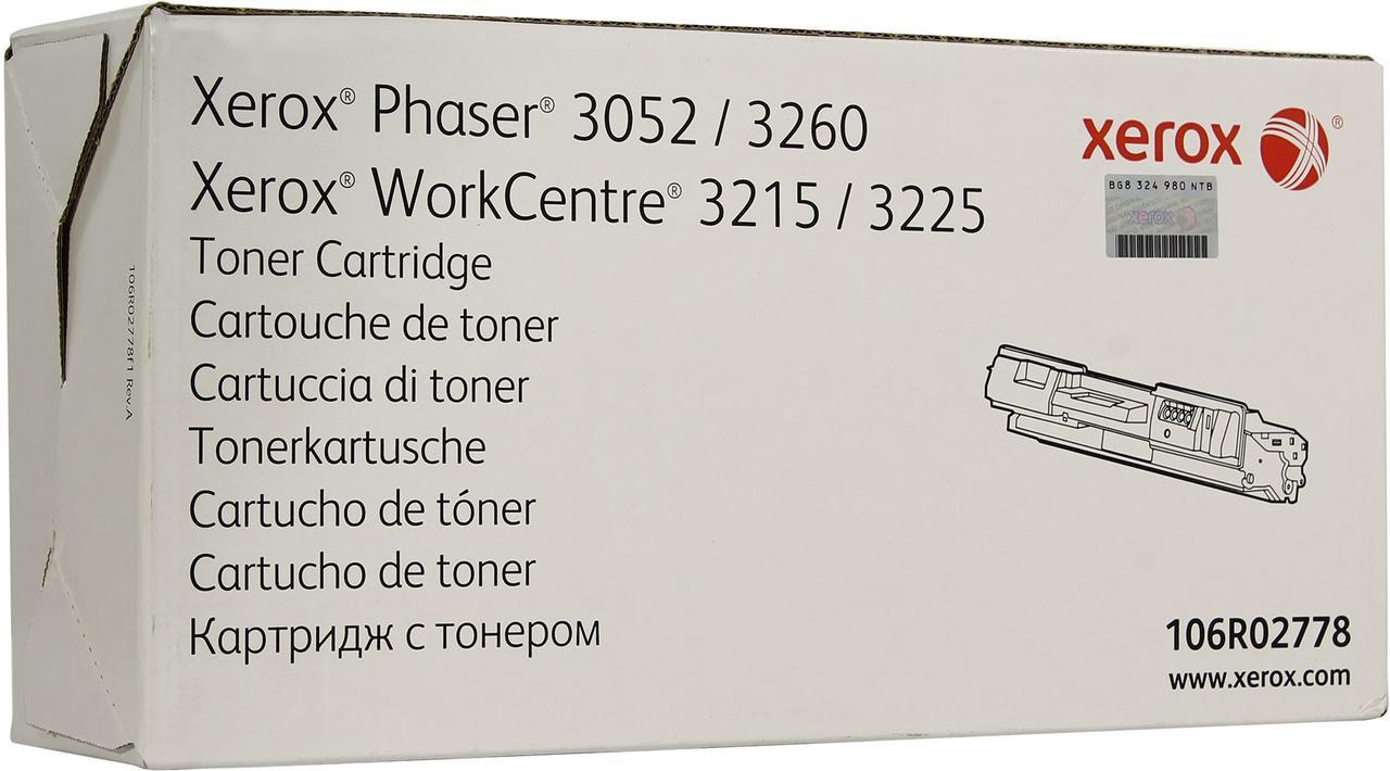 Тонер-картридж Черный для Xerox Phaser 3052, 3260DNI, Xerox WorkCentre 3225DNI, 3215NI Оригинал