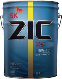 Моторное полусинтетическое масло ZIC X5 Diesel 10w40 20л