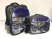 Школьный рюкзак для мальчика в 1-й класс, в комплекте. Высота 35 см, длина 26 см, ширина 15 см., фото 1
