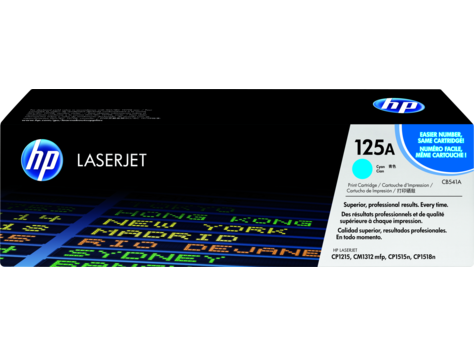 Картридж лазерный HP CB541A, голубой, для НР Color LaserJet CM1312, CM1312nfi, CP1215, CP1515n