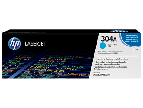 Картридж лазерный HP CC531A, голубой, на 2800стр для CP2025n/CP2025dn/CM2320nf/CM2320fxi