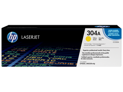Картридж лазерный HP CC532A, жёлтый, на 2800стр для CP2025n/CP2025dn/CM2320nf/CM2320fxi