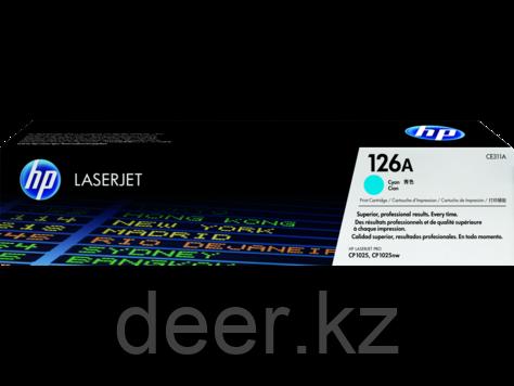 Картридж лазерный HP CE311A, Голубой, 1000 страниц для Color LaserJet CP1025