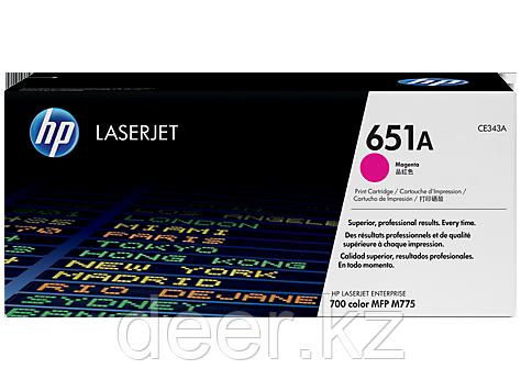 Картридж лазерный HP 651A, 16 000 страниц для Color LaserJet, CE343A