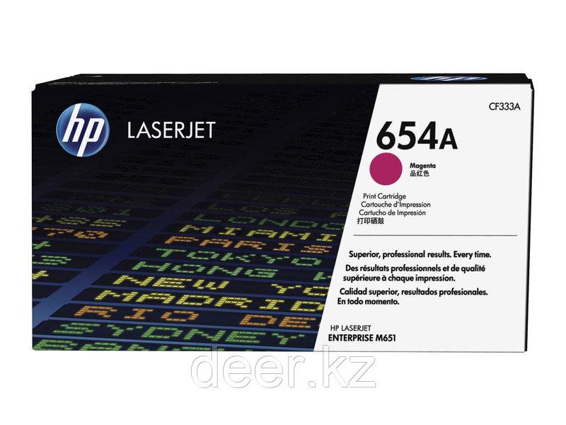 Картридж HP CF333A, 654A, для принтеров HP ColorLaserJet, пурпурный