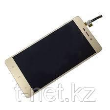 Дисплей Xiaomi Redmi 3 , с сенсором, цвет золотистый