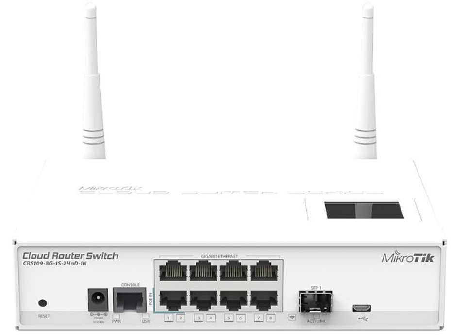 MikroTik Cloud Router Switch 109-8G-1S-2HnD-IN