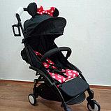 Детская Коляска BabyTime компактная и удобная Аналог YOYO Минни Маус, фото 2