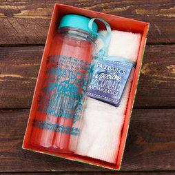 """Набор """"Восхищать"""", бутылка для воды (500 мл), полотенце"""
