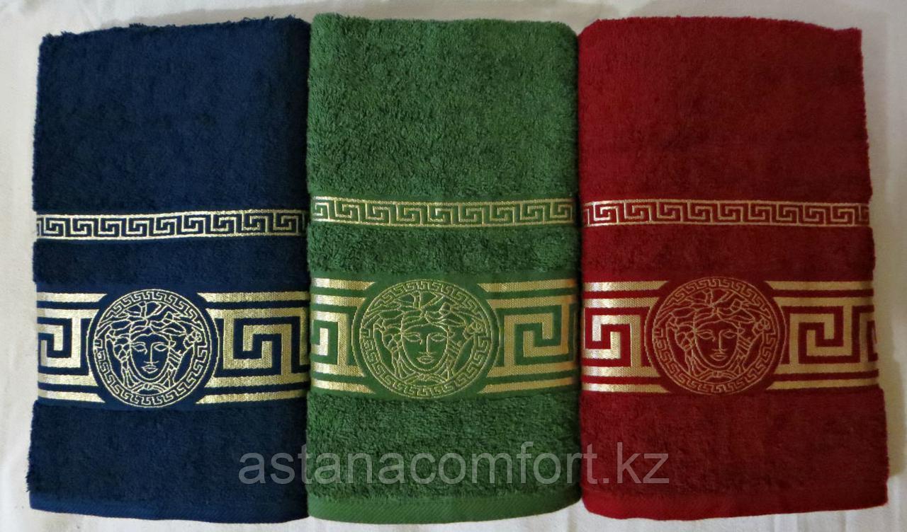 """Банное махровое полотенце """"Versace"""" 140*70 см."""