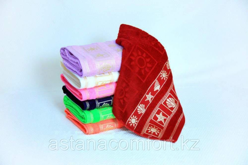 "Махровое полотенце для лица ""Ракушки"" 50*90 см."