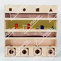 Настенный модуль с объёмными телами и зеркалом