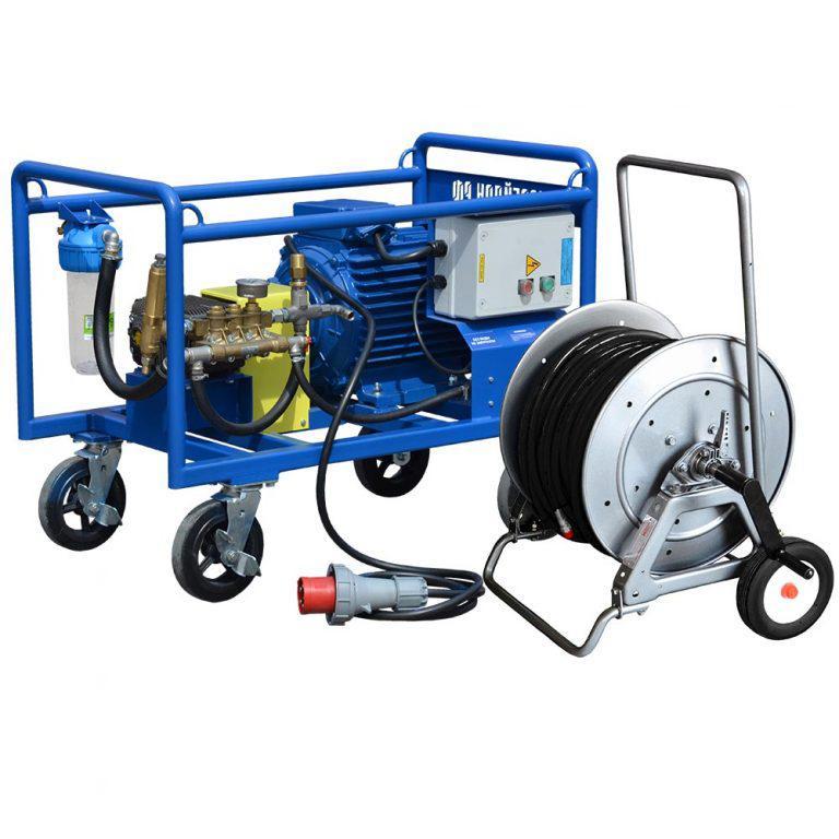 Серия высокопоточных аппаратов Посейдон 120 – 500 бар, 22 кВт