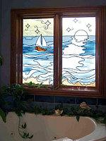 Витражи в окнах, O-58