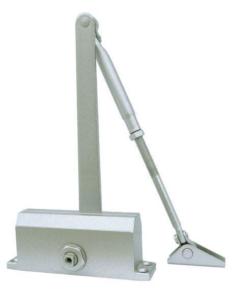 Дверной доводчик 60 кг серебристый