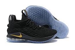 "Баскетбольные кроссовки Nike LeBron XV (15) Low ""Black/Gold/Ice"" (40-46)"