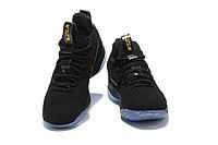 "Баскетбольные кроссовки Nike LeBron XV (15) Low ""Black/Gold/Ice"" (40-46), фото 3"