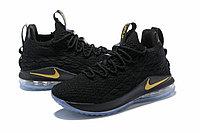 "Баскетбольные кроссовки Nike LeBron XV (15) Low ""Black/Gold/Ice"" (40-46), фото 2"