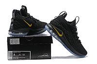 "Баскетбольные кроссовки Nike LeBron XV (15) Low ""Black/Gold/Ice"" (40-46), фото 6"