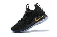 "Баскетбольные кроссовки Nike LeBron XV (15) Low ""Black/Gold/Ice"" (40-46), фото 4"